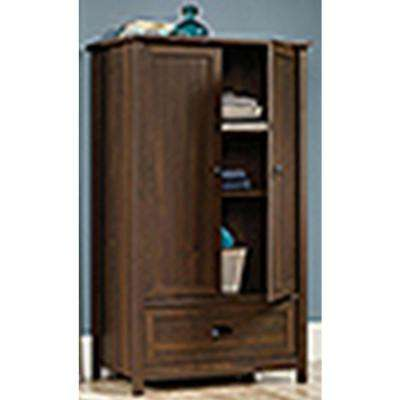 County Line Collection Armoire with Drawer in Rum Walnut
