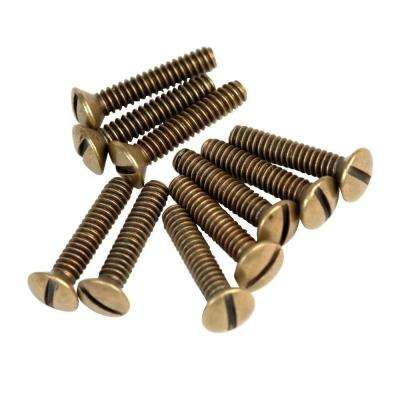 3/4 in. Wall Plate Screws - Aged Bronze (10-Pack)