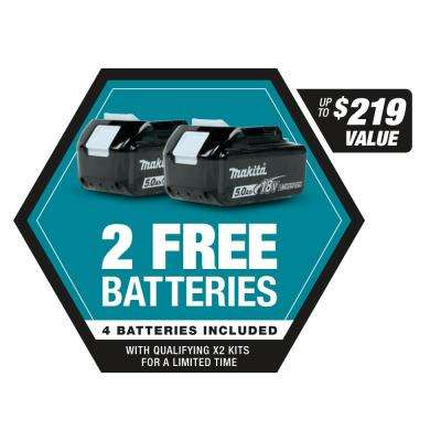 120 MPH 473 CFM 18-Volt x2 (36-Volt) LXT Lithium-Ion Brushless Cordless Blower Kit with Four 5.0 Ah Batteries