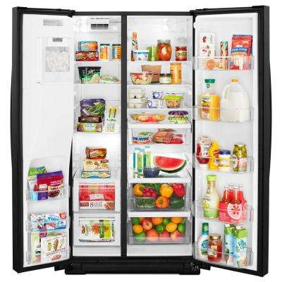 28 cu. ft. Side by Side Refrigerator in Black