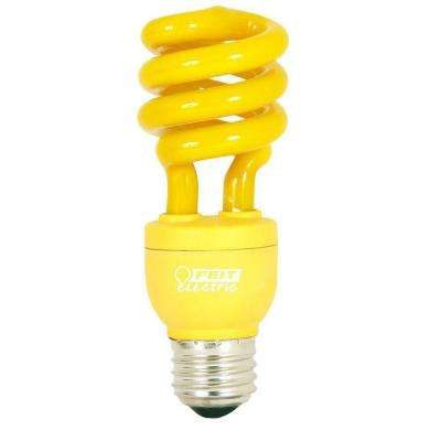 60W Equivalent Yellow Spiral CFL Light Bulb (12-Pack)