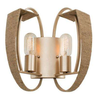Tinali 2-Light Gold Dust Sconce