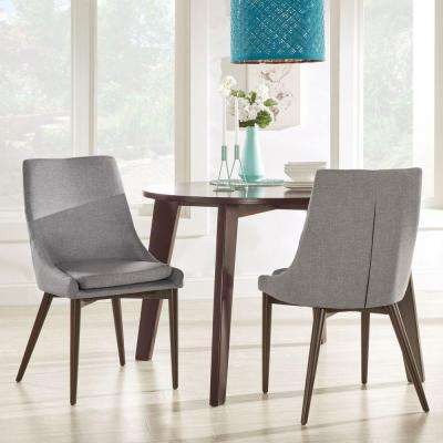 Nobleton Linen Dining Side Chair in Smoke (Set of 2)