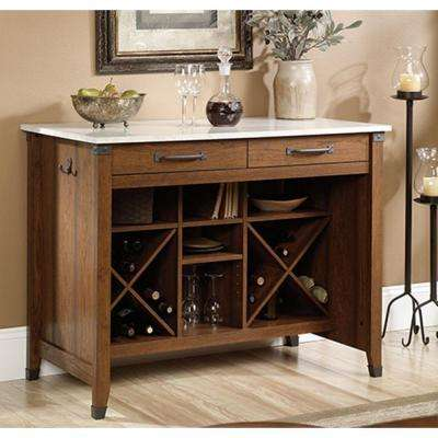 Carson Forge Collection 47 in. €W Kitchen Gourmet Stand in Washington Cherry