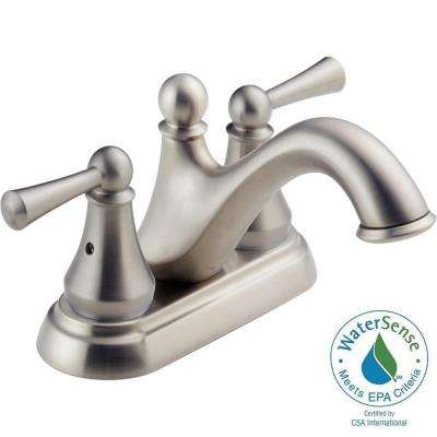 Haywood 4 in. Centerset 2-Handle Bathroom Faucet in Stainless