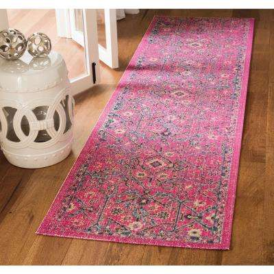 Artisan Fuchsia/Anthracite 2 ft. 2 in. x 8 ft. Runner