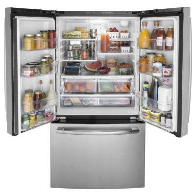 27 cu. ft. French Door Refrigerator in Stainless Steel,  ENERGY STAR