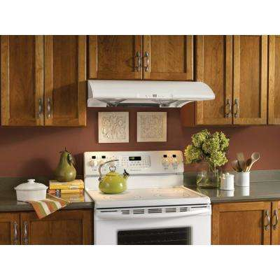NTM Series 30 in. Under Cabinet Range Hood with Light in White