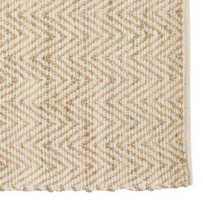Zigzag Natural 2 ft. x 3 ft. Area Rug