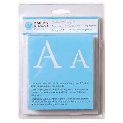 48-Piece Monogram Serif Alphabet Stencil Set