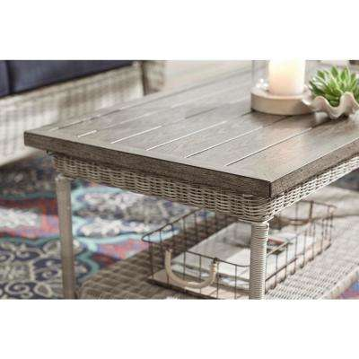 Beacon Park Gray Wicker Outdoor Patio Coffee Table