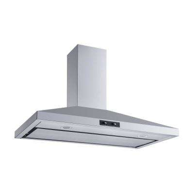 36 in. Convertible Wall Mount Range Hood in Stainless Steel with Aluminum Mesh filter and Stainless Steel Panel