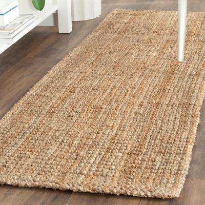 Natural Fiber Beige 2 ft. x 19 ft. Runner Rug