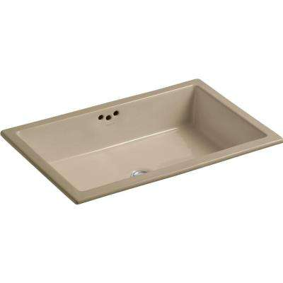 Kathryn Vitreous China Undermount Bathroom Sink in Mexican Sand with Overflow Drain