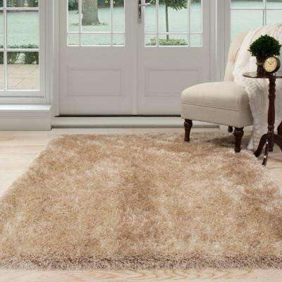 Shag Tan 8 ft. x 10 ft. Area Rug