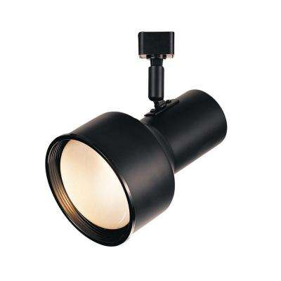 R30 Black Step Cylinder Track Lighting Fixture