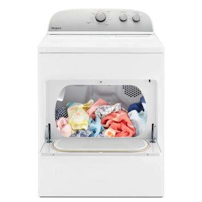 7.0 cu. ft. 120-Volt White Gas Vented Dryer with AUTODRY Drying System