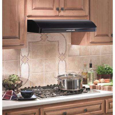 Elite E661 36 in. Under Cabinet Range Hood with Light in Black