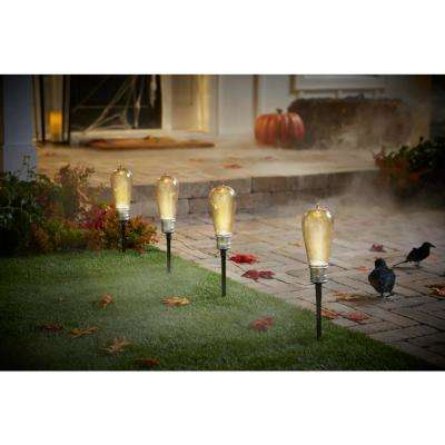 16 in. Bulb Pathway Markers with LED Illumination (Set of 4)
