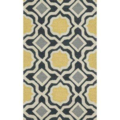 Weston Lifestyle Collection Charcoal/Gold 2 ft. 3 in. x 3 ft. 9 in. Accent Rug