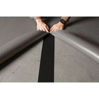 4 in. x 30 ft. Black Indoor/Outdoor Adhesive Glass Cloth Seam Tape Roll