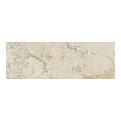 Canaletto Bianco 3 in. x 13 in. Porcelain Bullnose Floor and Wall Tile