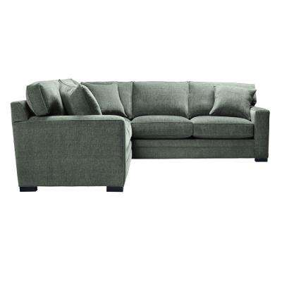 Lindon Upholstered 2-Piece Sectional in Tori Platinum