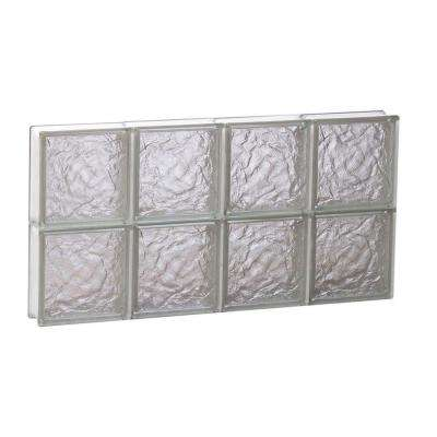 Ice Pattern Non-Vented Glass Block Window