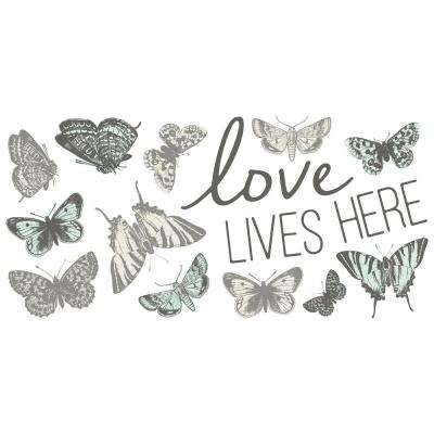 24 in. x 11.8 in. Love Lives Here Wall Sticker