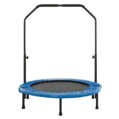 40 in. Mini Foldable Rebounder Fitness Trampoline with Adjustable Handrail