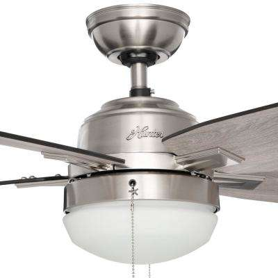 Large room ceiling fans lighting the home depot antero 54 in led indoor brushed nickel ceiling fan with light aloadofball