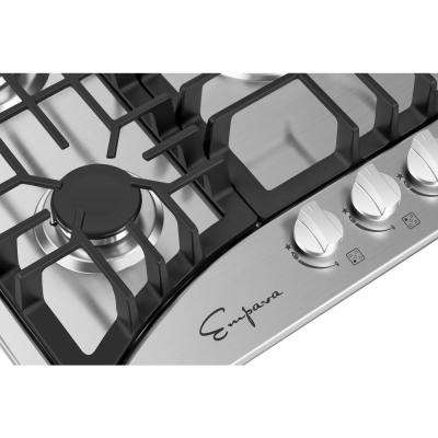 30 in. Gas Stove Cooktop with 5 Sealed Italy Sabaf Burners in Stainless Steel