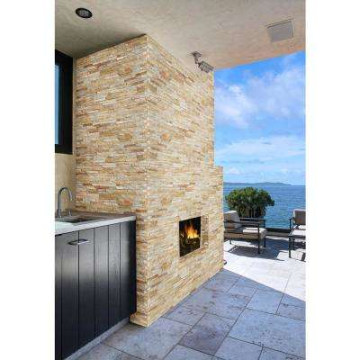Sparkling Autumn Ledger Corner 6 in. x 6 in. x 6 in. Natural Quartzite Wall Tile (2 sq. ft. / case)
