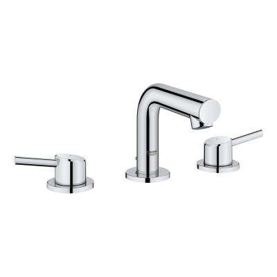 Concetto 8 in. Widespread 2-Handle Mid-Arc Bathroom Faucet in StarLight Chrome