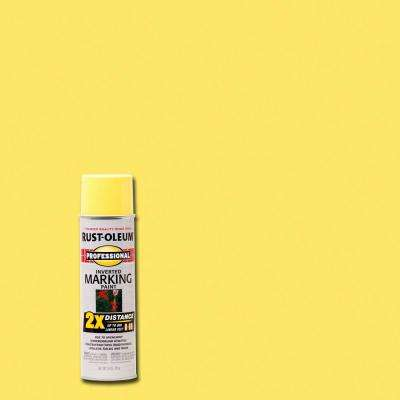 15 oz. 2X High Visibility Yellow Marking Spray Paint (6-Pack)