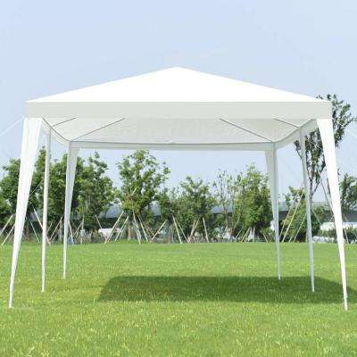 10 ft. x 20 ft. White Outdoor Party Wedding Canopy Gazebo Pavilion Event Tent