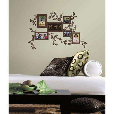 5 in. x 11.5 in. Family Frames Peel and Stick Wall Decals