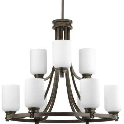 Orbitz Collection 9-Light Antique Bronze Chandelier