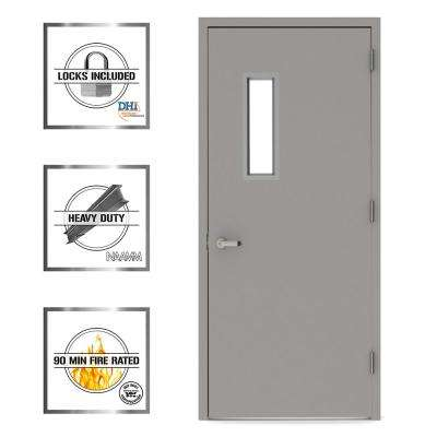 Vision Lite 520 Steel Prehung Commercial Door with Welded Frame