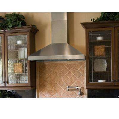 36 in. Wall Mount Range Hood in Stainless Steel