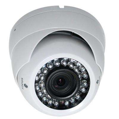 Wired Indoor/Outdoor Night Vision Vandal Proof Dome Camera with 1000TVL Resolution and 2.8 to 12 mm Lens
