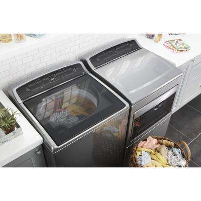 7.4 cu. ft. 120-Volt HE Chrome Shadow Gas Vented Dryer with AccuDry and Intuitive Touch Controls