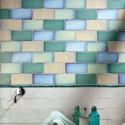 Antic Special Agua Marina 3 in. x 6 in. Ceramic Wall Subway Tile (1 sq. ft. / pack)