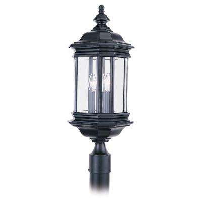 Hill Gate 3-Light Outdoor Black Post Top