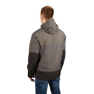 Men's Large Gray HYDROBREAK Layer Rain Shell Jacket
