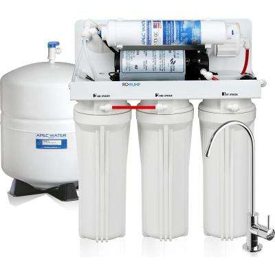 Ultimate Reverse Osmosis Under Counter Electric Pumped 45 GPD 5-Stage Drinking Water Filtration System for International