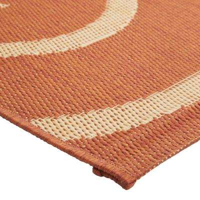 Whirl Terra/Natural 5 ft. x 8 ft. Area Rug