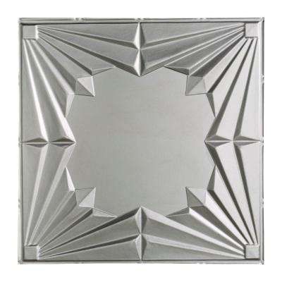 Art Deco - 2 ft. x 2 ft. Lay-in Ceiling Tile in Argent Silver