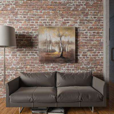 "40 in. x 40 in. ""Autumn Mist"" Hand Painted Contemporary Artwork"