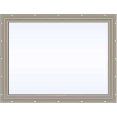 47.5 in. x 35.5 in. V-2500 Series Fixed Picture Vinyl Window - Tan